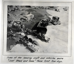 1945 Iwo Jima Photos - Wreckage (captainpandapants) Tags: usa beach japan usmc bar truck plane airplane dead army japanese death war asia gun tank crane destruction wwii navy aeroplane landing bunker worldwarii cannon ww2 americans soldiers rockets tunnels combat bomb landingcraft marinecorps machinegun tanks worldwar2 pillbox halftrack oildrum worldwartwo thepacific beachhead supplydepot supplyships watercooledmachinegun iwojimaiwojimaphotos mountsuribachifighting marinecorpsphotographers