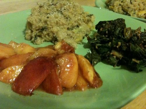 Quinoa, apples, greens