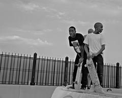 Baltimore, 2010 (Alan Barr) Tags: street people blackandwhite bw monochrome mono blackwhite candid sony streetphotography bodylanguage baltimore sp streetphoto alpha 2010 artscape nex3