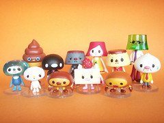 Cute Pudding & Jelly Character with Friends Tiny Figure Toys