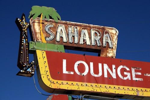 sahara lounge neon sign