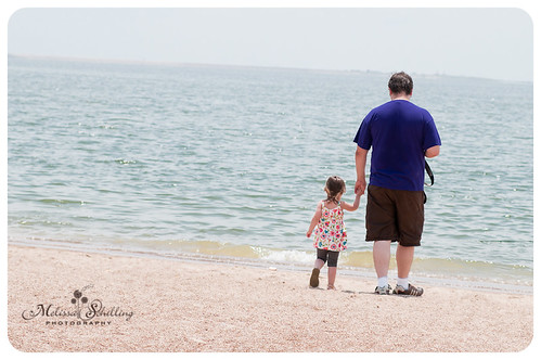 Daddy and Kera on the beach