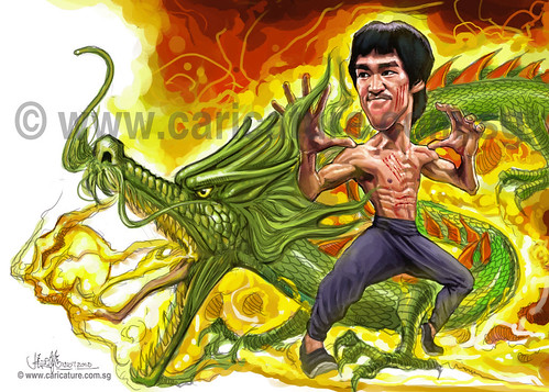 digital caricature of Bruce Lee - 8 small watermark