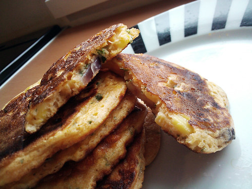 Sweetcorn and Red Onion Fritters - The Inky Kitchen
