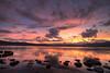 The End Of Rainy Season (TheJbot) Tags: sunset summer sky lake mountains reflection japan clouds landscape rocks 日本 nagano 夕日 hdr suwa 諏訪 長野 湖 sigma1020mm 諏訪湖