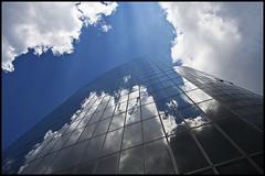 GAP (Problemkind) Tags: reflection glass clouds germany deutschland steel wolken highrise dsseldorf glas reflektion hochhaus stahl grafadolfplatz mygearandmepremium