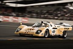 Ferrari 512M (1970) (VJ Photography (www.vjimages.be)) Tags: france classic race racecar vintage jurrie ferrari racing historic m 1970 fr lemans yellowferrari sportscar montjuich 2010 512 vjimages 512m vanhalle tergal escuderia