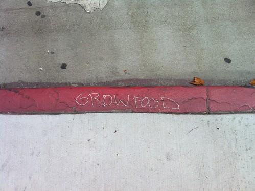 Pro urban farming graffitti LA