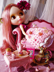 Mabel Carillon: my first factory! (teddy&balocchi) Tags: pink girl hair outfit doll factory rice skin handmade lace barbie pop veronica sally nostalgic blythe rement takara tomy rbl traslucent