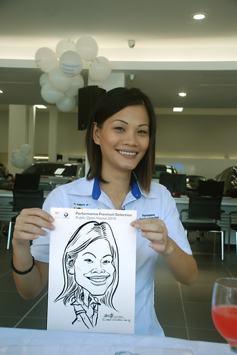 Caricature live sketching for Performance Premium Selection BMW - Day 2 - 2