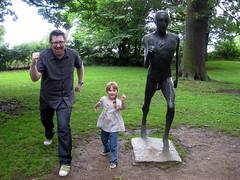 Running Man (and companions): Elisabeth Frink (1978) Bronze (Emma Farrer) Tags: uk england sculpture art north galleries artists installation ysp yorkshiresculpturepark elisabethfrink staycation
