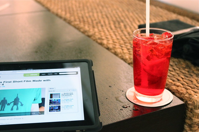 A Drink + something to read!