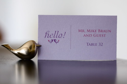 Place Cards for Phu and Nancy's Wedding