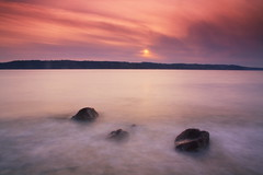 Orange Sherbet (PamINSeattle) Tags: ocean sunset summer seascape clouds landscape rocks surf whidbeyisland pugetsound saltwater snohomishcounty westernwashington impressedbeauty mukilteowashington pamelagerber