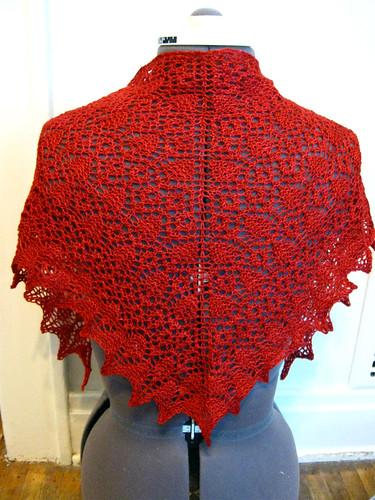 Prairie Rose Lace Shawl