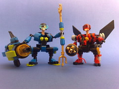 """TRITON"" & ""AEROKNIGHT"" (Shamisenfred) Tags: lego ostrich jetpack hardsuit"