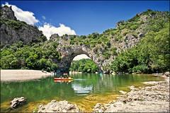 le pont d'arc (heavenuphere) Tags: pontdarc vallonpontdarc gorgesdelardèche ardèche rhônealpes france landscape gorge canyon river canoe 1022mm gi 14