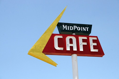 midpoint café neon sign