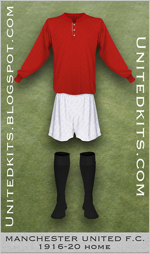 Manchester United 1916-1920 Home kit