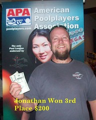 Wildwood Casino Cripple Creek, CO Pool Tournament - Jonathan 3rd place $200 - 7-12-10 (Wildwood Casino) Tags: pool creek colorado casino tournament co cripple wildwood winners