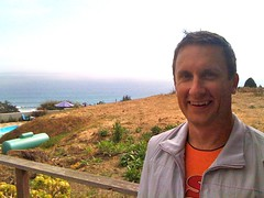 Jeff Meador above Stinson Beach