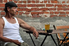 DSC_0178 (underwhelmer) Tags: old man bar smoking cigarettes beret wifebeater grizzled