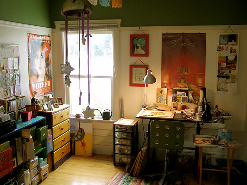 my studio, july 2010