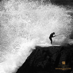 have fun go fishing (louie imaging) Tags: ocean sf california beach wet fun fishing fisherman ruins san francisco rocks surf waves pacific action wave surfing suit coastal baths sutro local splash explode pounding maxed