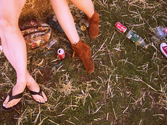 Feet and straw. (Livia Penny) Tags: summer music festival shoes toes straw sunny flip flipflops flop landscapeshot