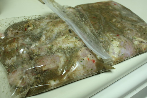 Jerk Chicken - Marinating