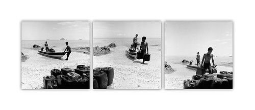 A triptych of Locals at Work, Perhentian Kecil, July 2010