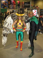 Hawkgirl and Green Lantern