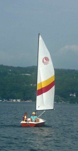 Red rocket under sail, July 2010