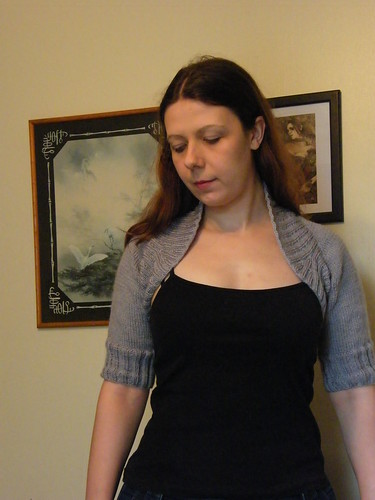 Gray Ribbed Shrug