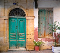 Chania, Greece - July 2010 (Fat and ugly) Tags: door city trip travel windows vacation urban window island europa europe mediterranean doors hellas kreta eu creta greece grecia crete hania griechenland picturesque citycenter europeanunion oldcity grece mediterraneansea urbanlandscape europeancity chania  ellada urbanabstract kriti unitedeurope beautifulcity         lovelycity