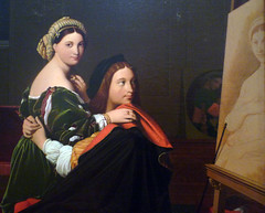 Ingres, Raphael and the Fornarina (detail with Easel), 1814
