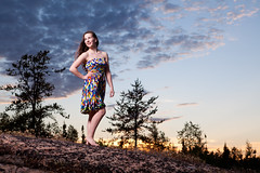 New Dawn (davebrosha) Tags: lighting sunset portrait portraits studio landscape dance dancers photoshoot dancing north stock graduation location portraiture northwestterritories northern grad leap leaping yellowknife modelreleased strobist davebroshaphotography