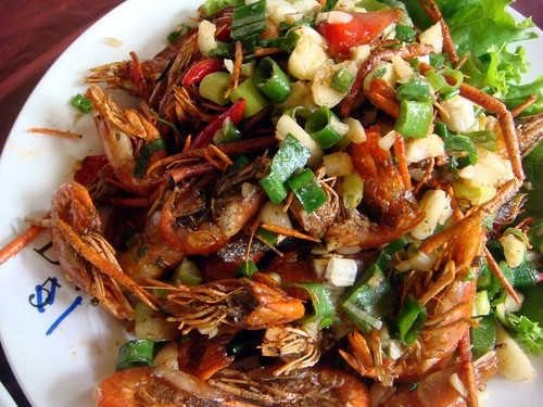 新埔 劉家莊燜雞-鹽酥蝦