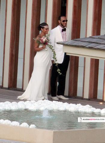 ALICIA KEYS & SWIZZ BEATZ WEDDING PICTURES