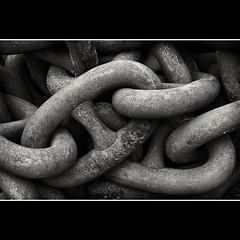 Anchor Chains (Stephen Birch Photography) Tags: white black monochrome metal mono chains nikon text anchor links d300s
