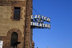 Exeter Street Theatre Sign Boston MA 1984 (Mod Betty / RetroRoadmap.com) Tags: exeter street theatre boston ma 1984