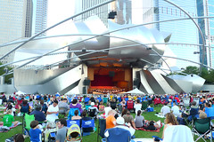 it just doesn't get any better (wacky doodler) Tags: chicago milleniumpark frankgehry outdoorconcert jaypritzkerpavillion