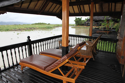 Inle Princess Hotel deck