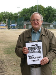 Councillor Bob Sullivan fighting to save local playing field