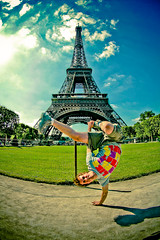 Strike a pose (Charlie Balch) Tags: paris france tower energy europe kick eiffel bboy breakdancer