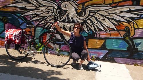 KT eagle mural