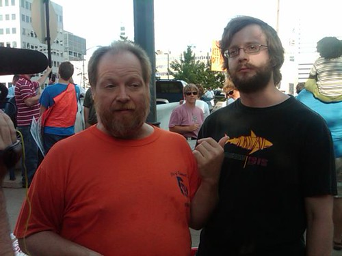 Steve Houldworth and Graham Matthews, denied entry to NOM rally because they held hands