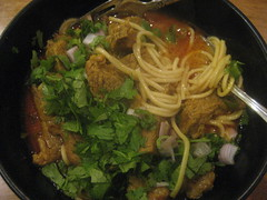 Chiang Mai noodles with beef