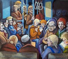 Night Train (bettybirdart) Tags: art painting betty fantasy journe