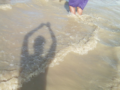 My Shadow on My Birthday on Berbice Beach